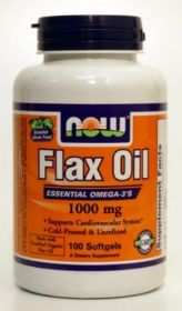 Flax Oil 1000mg 100 Tablets Now