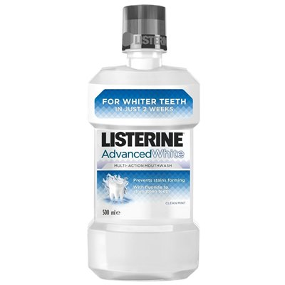 ליסטרין לבן listerine advanced white
