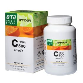 Vitamin C 500 Chew 50 Tablets FLORIS ויטמין סי 500 הדס