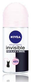 INVISIBLE FOR BLACK & WHITE דאודורנט אנטי פרספירנט רול און שקוף