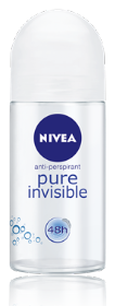 NIVEA PURE INVISIBLE דאודורנט אנטי פרספירנט רול און שקוף