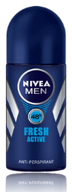 NIVEA FRESH ACTIVE דאודורנט רול און