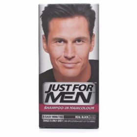 צבע שיער Just For Men Shampoo In Hair Colour - Real Black H55